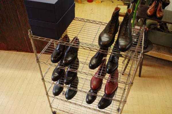 完成した靴たち